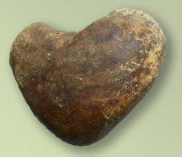 The heart-shaped stone